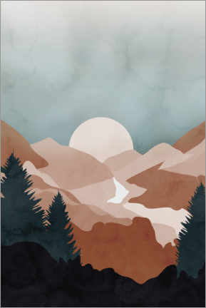 Premium poster Terracotta mountains