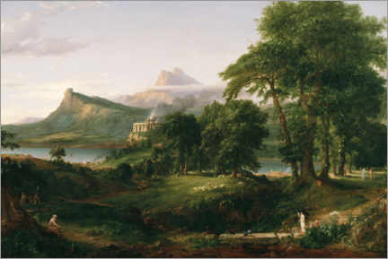 Premium poster  The Course of Empire, The Arcadian or Pastoral State - Thomas Cole