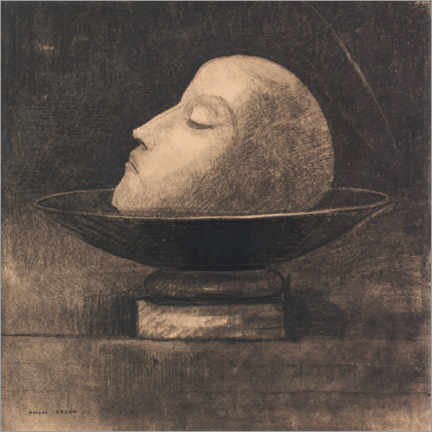 Premium poster  Head of a martyr on a plate - Odilon Redon