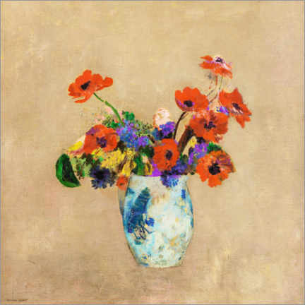 Gallery print  Flowers in a vase - Odilon Redon