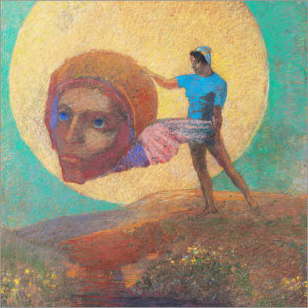 Canvas print  Figure wearing an ailee head - Odilon Redon