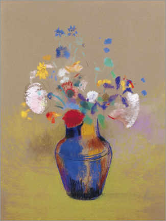 Canvas print  Flowers in a vase - Odilon Redon