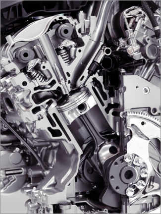 Wall sticker  Car engine with cylinders, pistons and valves - Oleksiy Maksymenko