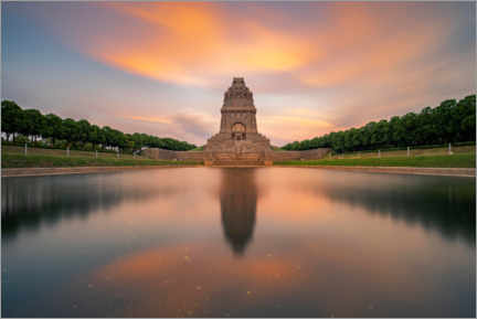 Aluminium print  Monument to the Battle of the Nations at sunset - Andreas Vitting