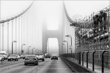 Canvas print  Traffic on the Golden Gate Bridge - Angela to Roxel