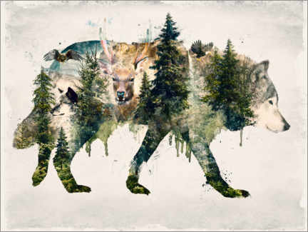 Canvas print  Walk with wolves - Barrett Biggers