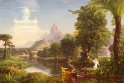 Canvas print  The journey of life, the youth - Thomas Cole