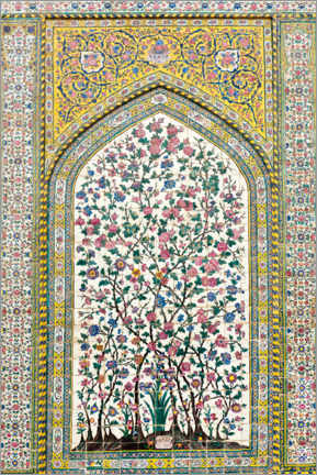 Acrylic print  Floral pattern, Wakil Mosque - Stefan Auth