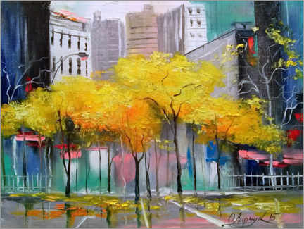 Foam board print  Autumn in Chicago - Olha Darchuk