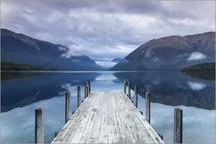 Canvas print  Jetty on Lake Rotoiti, New Zealand - Markus Lange