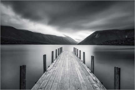 Canvas print  Clouds over Lake Rotoiti, New Zealand - Markus Lange