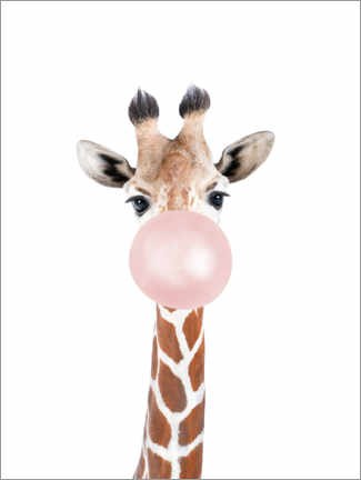 Canvas print  Bubble Gum Giraffe - Sisi And Seb