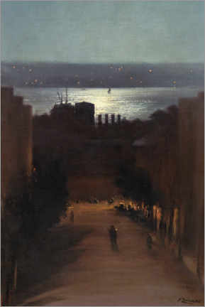 Acrylic print  View of Besiktas - Fausto Zonaro