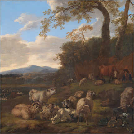 Premium poster  The flock of sheep - Jacob van der Does
