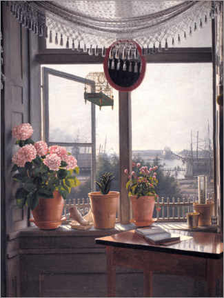 Gallery print  View from the artist's window - Martinus Rørbye