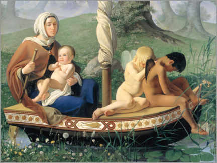 Acrylic print  Childhood, the four human ages - Detlev Blunck
