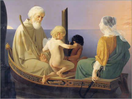 Canvas print  Age, the four generations - Detlev Blunck