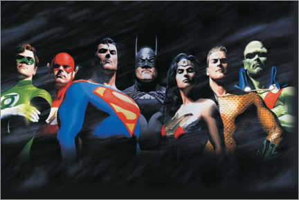 Canvas print  Justice League - The Original Seven