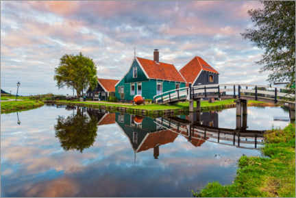 Gallery print  House on the canal in Zaanse Schans, Holland - George Pachantouris