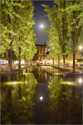 Wall sticker  Reflecting moon in Parma, Italy - Ulrich Beinert