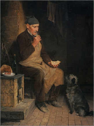 Wall sticker  Old man who is resting - Albert Anker