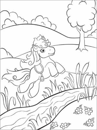 Colouring poster Little pony