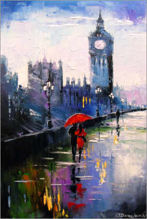 Premium poster  Rain in London - Olha Darchuk