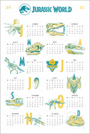 Wall sticker  Jurassic World - Calendar Poster 2021