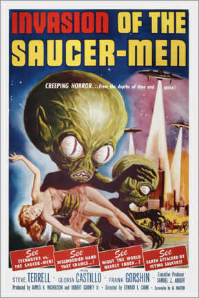 Canvas print  Invasion of the Saucer men - Entertainment Collection