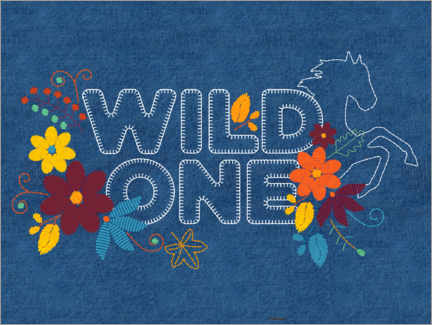 Acrylic print  Wild one embroidery