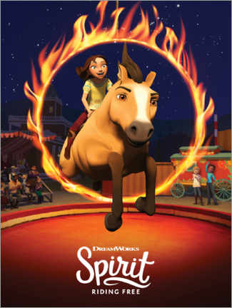 Foam board print  Spirit Riding Free - Arena