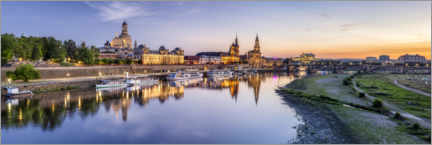 Premium poster  Dresden bank of the Elbe - Jan Christopher Becke