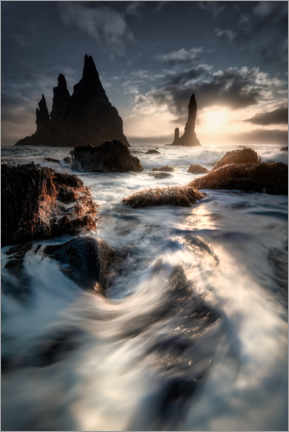 Aluminium print  Coastal landscape from the island of Iceland - Mandfred Voss