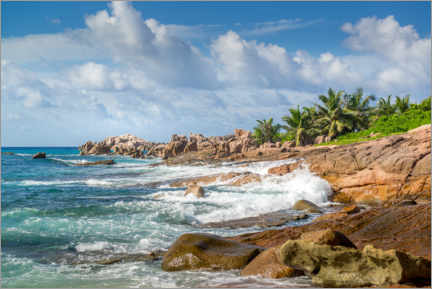 Wall sticker  Seychelles coastal landscape in the Indian Ocean - Mandfred Voss