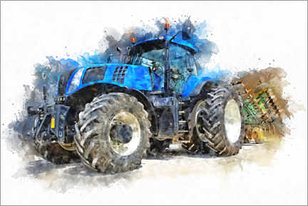 Premium poster  Tractor IV - Peter Roder