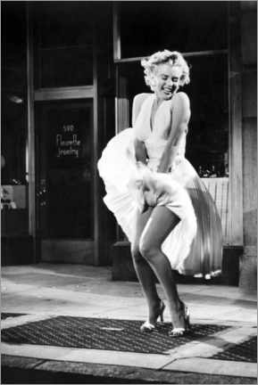Premium poster  Marilyn - The Seven Year Itch iconic pose - Celebrity Collection
