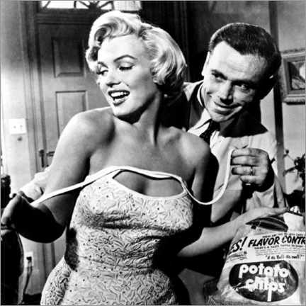 Aluminium print  The Seven Year Itch - Potato Chips - Celebrity Collection