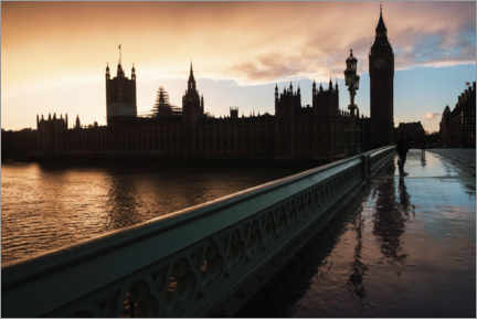 Premium poster Sunset over Houses of Parliament and Big Ben