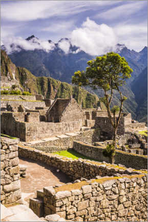 Premium poster  Machu Picchu in the Andes Mountains of Peru - Matthew Williams-Ellis