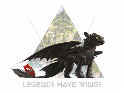 Premium poster Legends have wings - Toothless