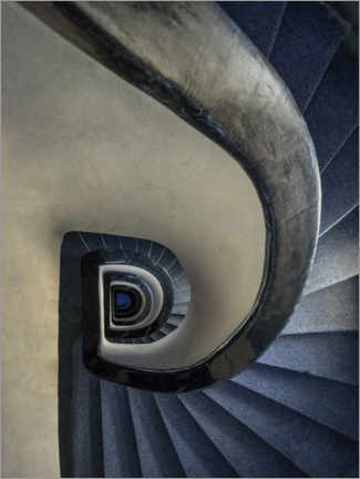 Premium poster Blue and cream staircase