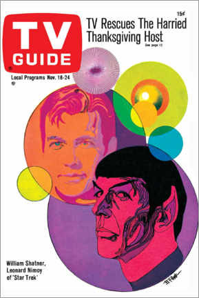 Foam board print  Star Trek - Retro Cover 1967 - TV Guide
