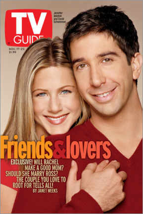 Acrylic print  Rachel and Ross - Friends & Lovers - TV Guide