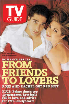 Premium poster Ross and Rachel - Friends to lovers