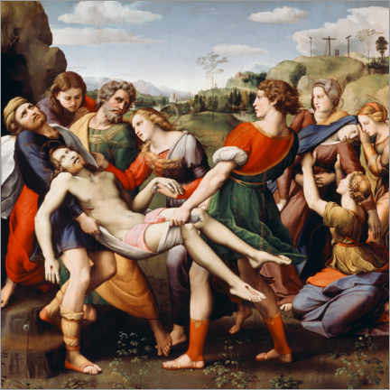 Aluminium print  Entombment of Christ - Raffael