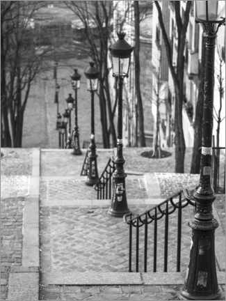 Wood print  Paris, Montmartre - Assaf Frank