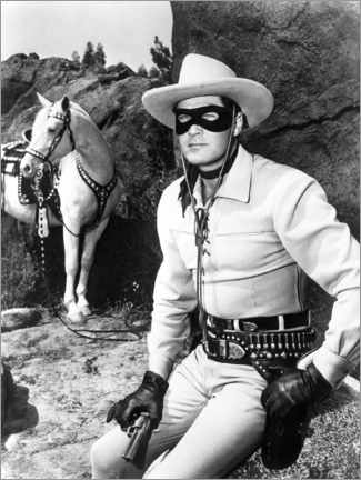 Premium poster  The Lone Ranger, Clayton Moore