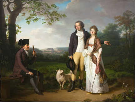 Premium poster  Niels Ryberg with son and daughter-in-law - Jens Juel