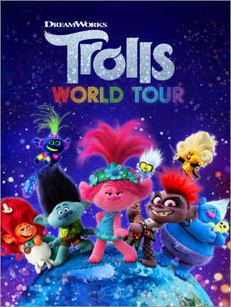 Canvas print  Trolls World Tour - Around the globe
