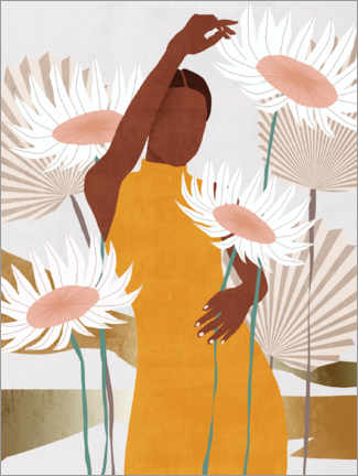 Wood print  Sun Kissed Woman II - Melissa Wang